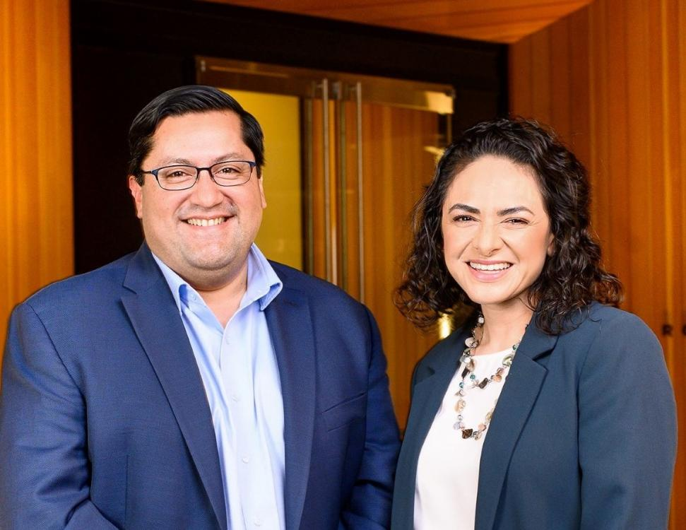 Image of smiling President Arreguin and Vice President Belia Ramos