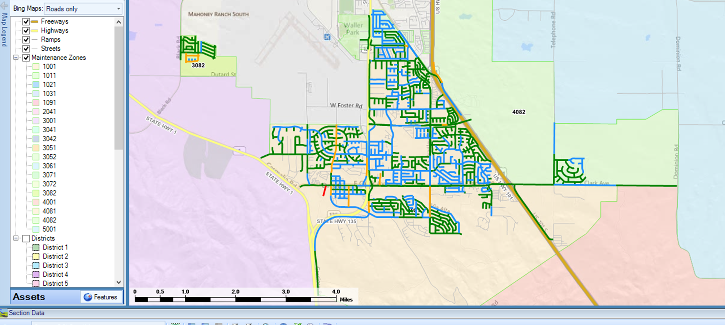 A map from the StreetSaver® tool