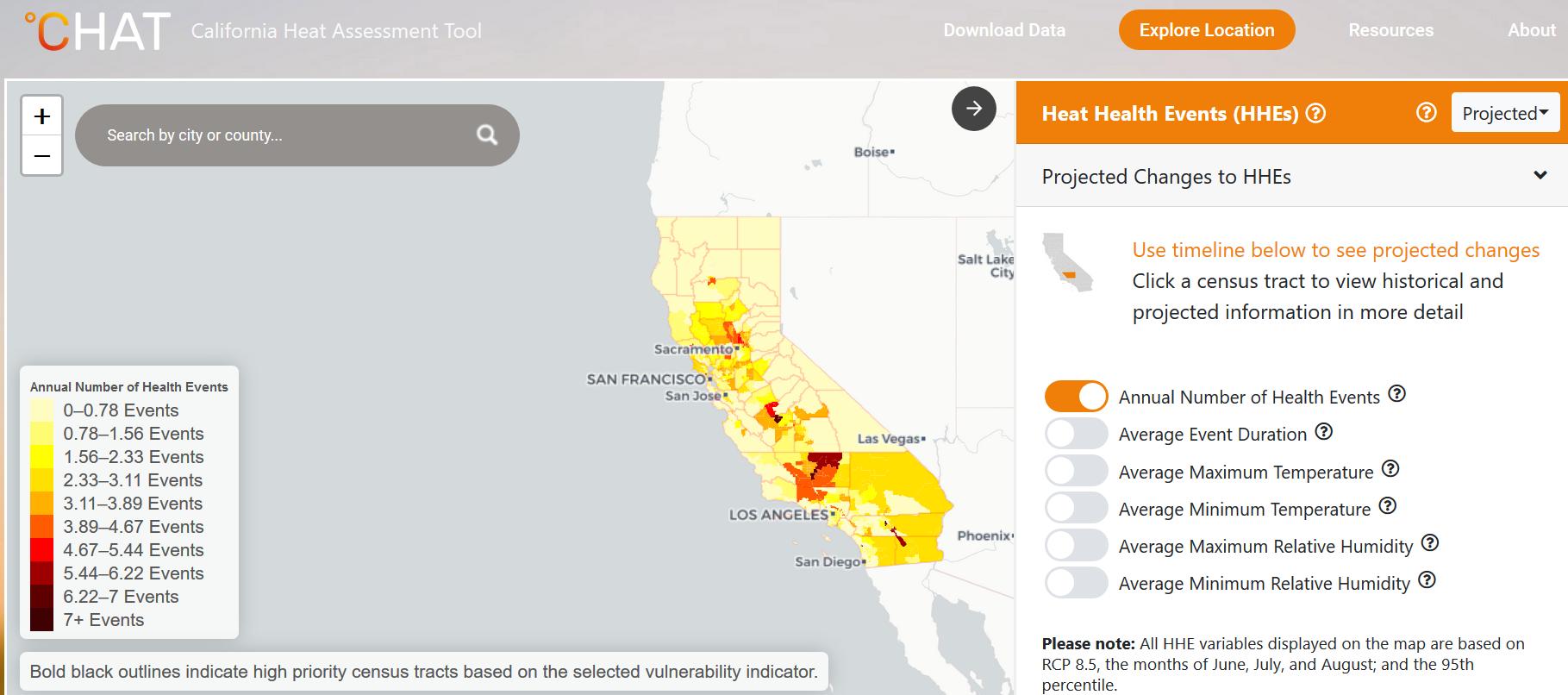 California Heat Assessment Tool