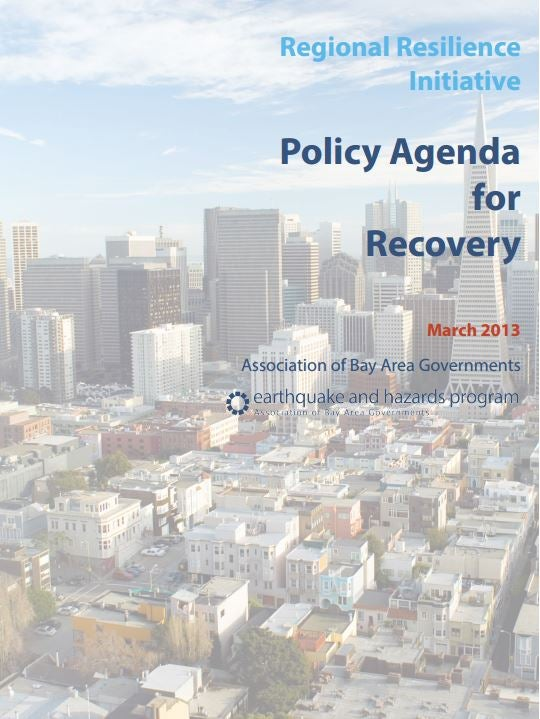 Regional Resilience Initiative: Policy Agenda For Recovery Cover
