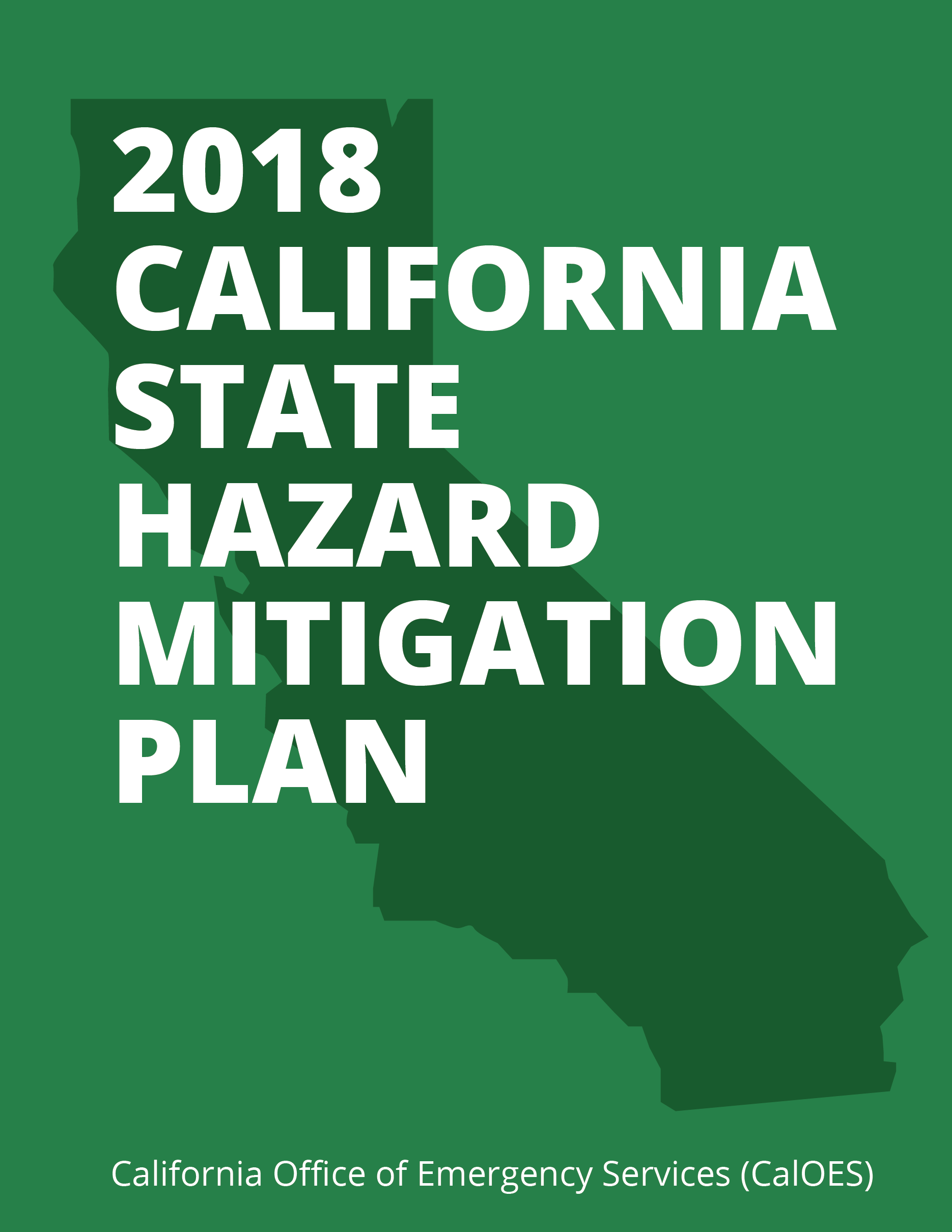 2018 California State Hazard Mitigation Plan (CalOES) Cover