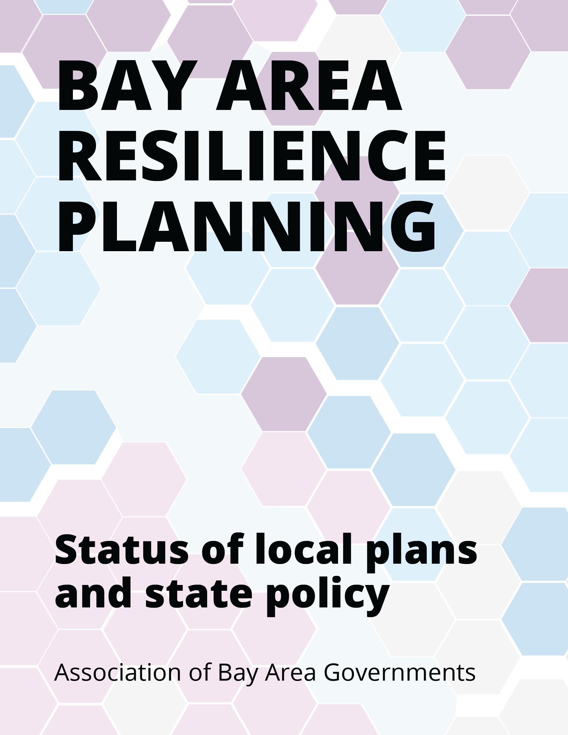 Bay Area Resilience Planning Cover