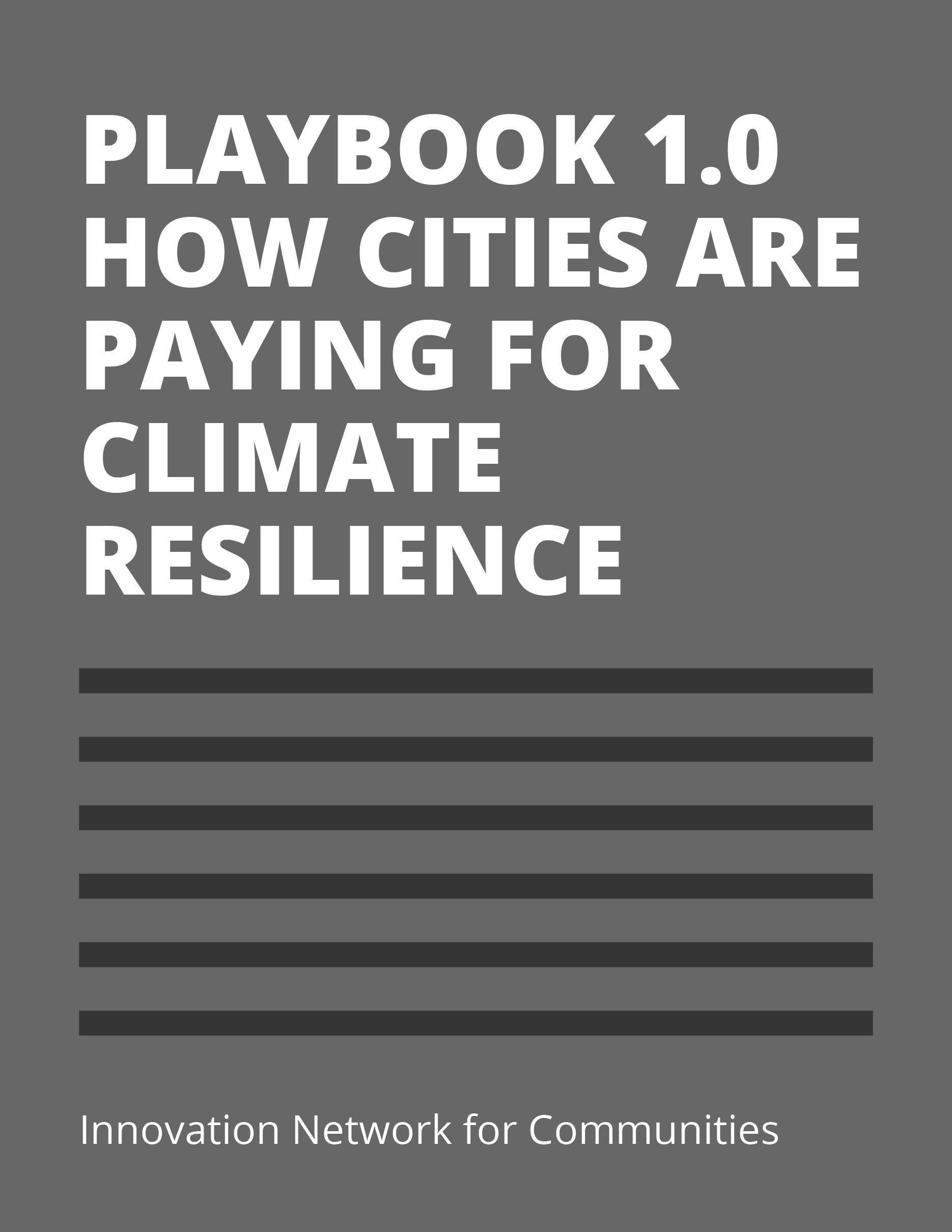 Cover Playbook 1.0: How Cities Are Paying for Climate Resilience
