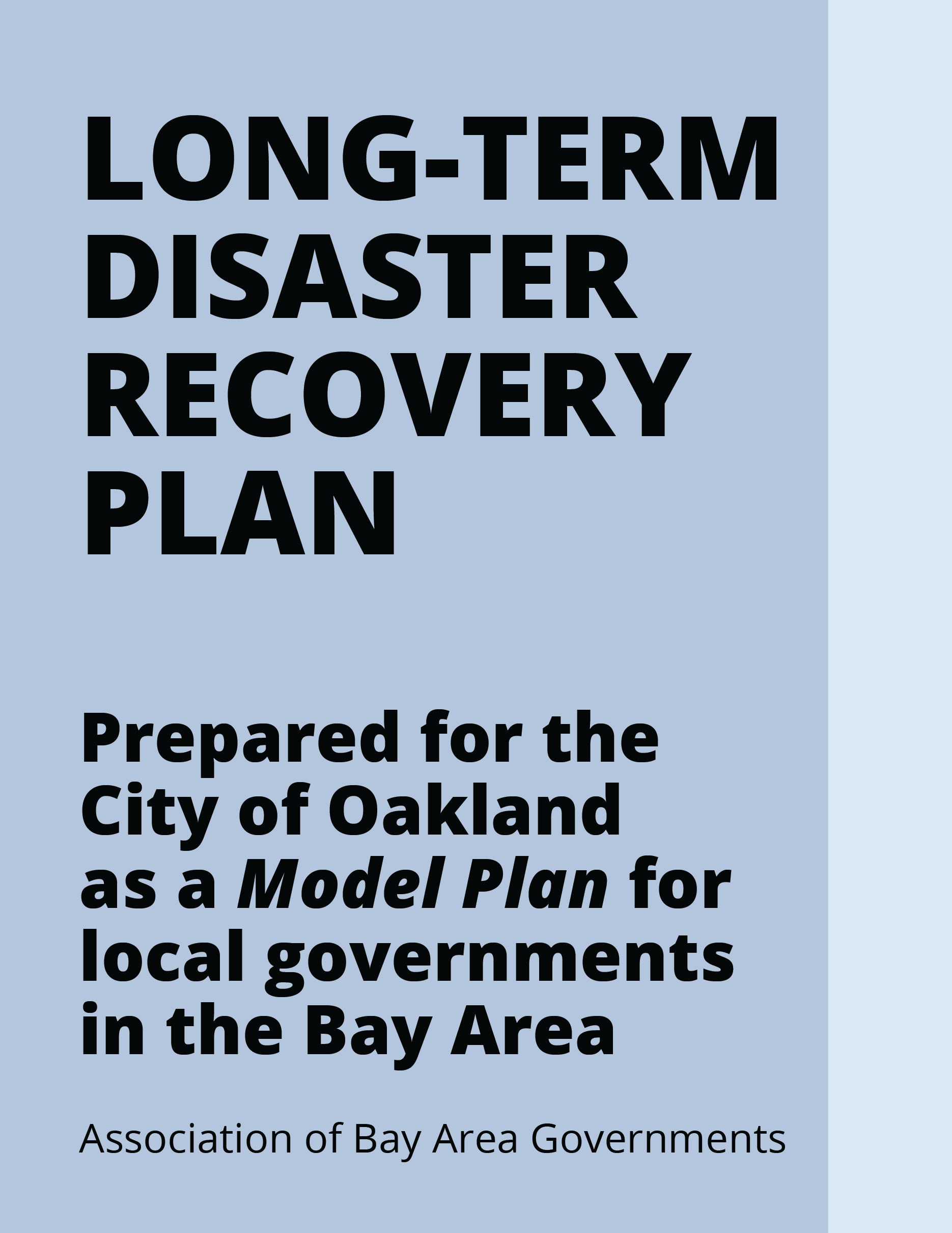 Oakland Long-Term Disaster Recovery Plan