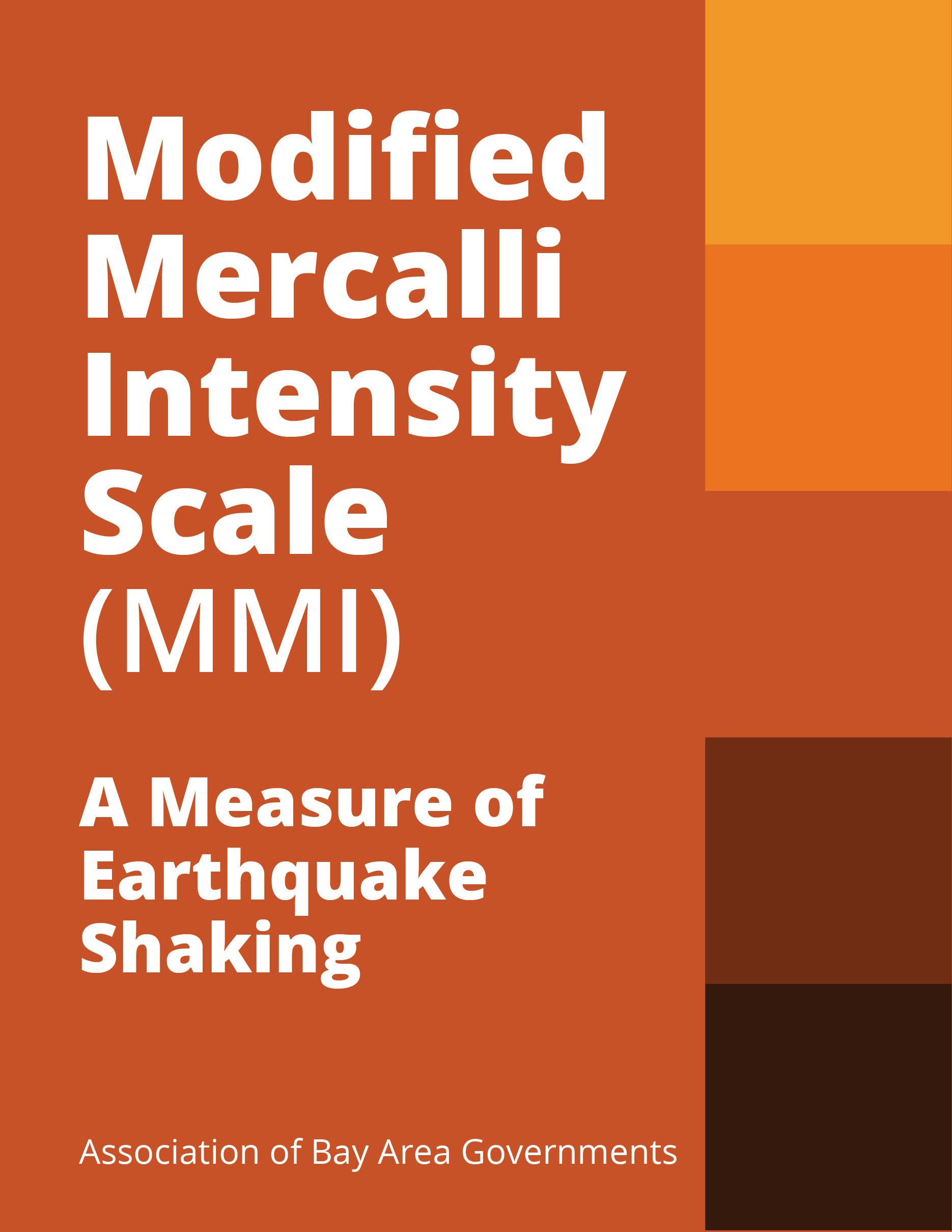 Modified Mercalli Intensity (MMI) Cover