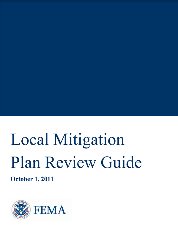 Local Mitigation Plan Review Guide Cover
