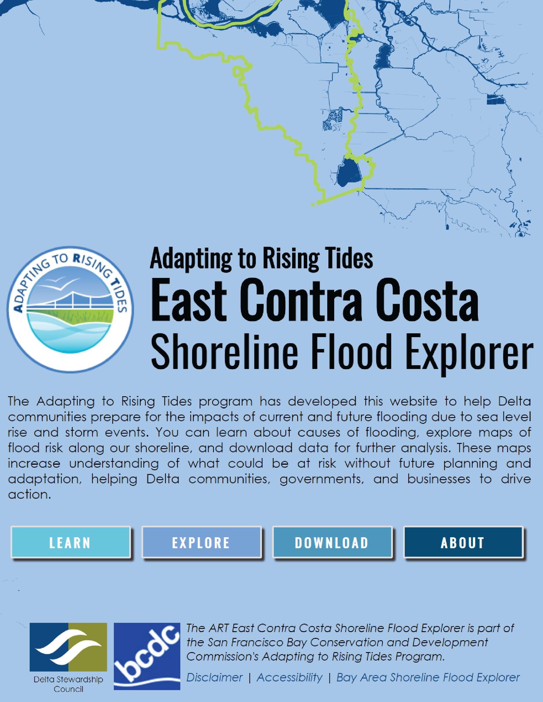 East Contra Costa Shoreline Flood Explorer