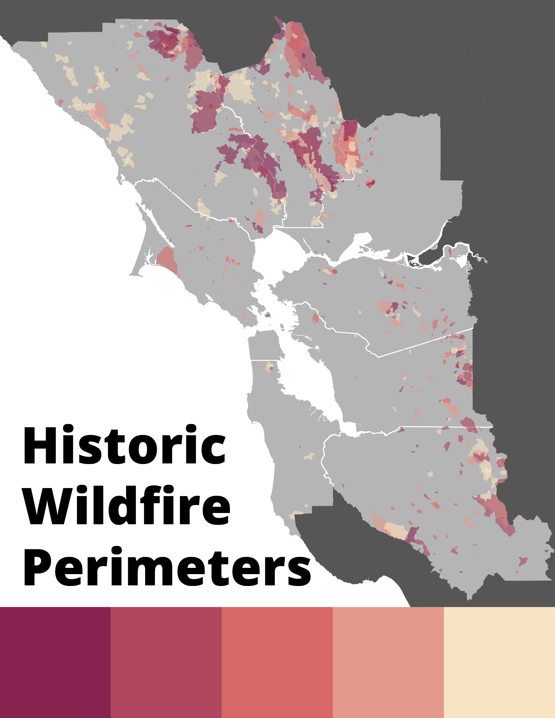 Historic Bay Area Fire Perimeters