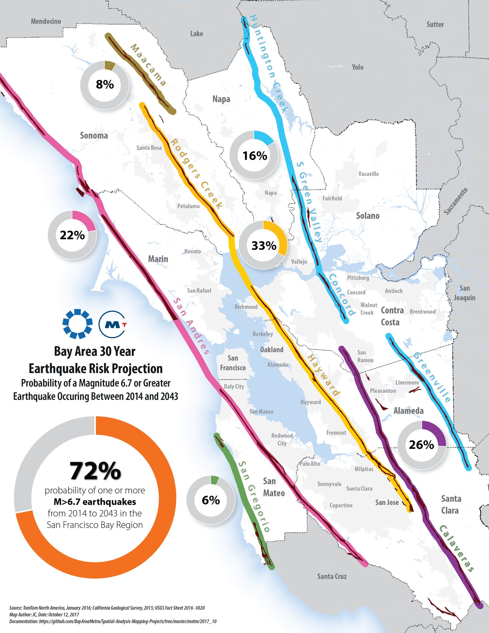 Earthquake Map Bay Area Map of the Month   Association of Bay Area Governments