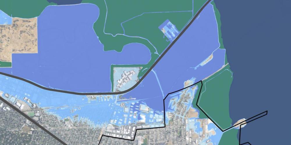 Map showing flood hazards