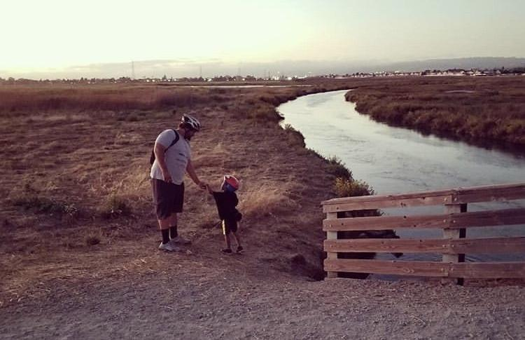 Maxwell Corleone and son on the Bay Trail